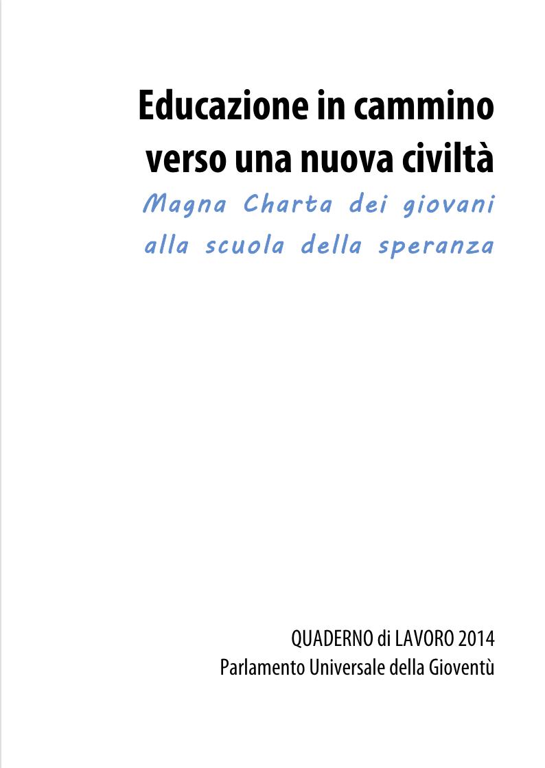 Quaderno di lavoro 2014
